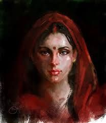 Artist Kiran Kumar (Indian artist) - Art And Beauty Classic Paintings, Indian Paintings, Oil Paintings, Indian Drawing, Face Proportions, Homemade Beauty Tips, India Art, Indian Artist, Woman Painting