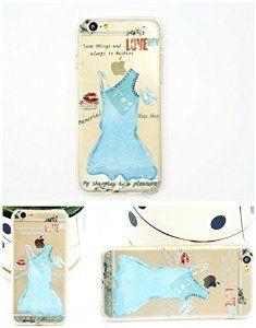 iPhone 6 Case, Apple iPhone 6 Case Anti-Scratch Clear Back for iPhone 6 Plus- Blue Dress TPU soft iPhone 6 soft case(5.5'')