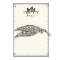 Downton Abbey Collection Silver Crystal Leaf Brooch 17535: Amazon.co.uk: Jewellery
