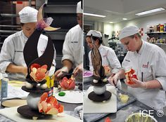 ICE students hard at work on their showpieces