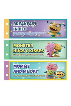 Henry Hugglemonster Mother's Day Coupon Book