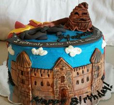 Harry potter birthday cake by LaKeisha Hill / Keck with Sweet Tooth Mother and Daughter Cakes. Knoxville, TN