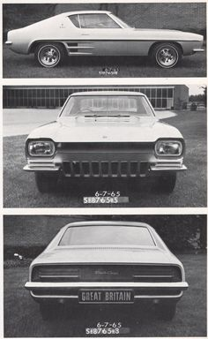 OG | 1969 Ford Capri Mk1 | Full-size mock-up dated June 1965