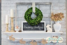 Easter Mantle, Spring Mantle, Girls with Pearls photography Easter Crafts, Easter Decor, Easter Ideas, Easter Table, Easter Centerpiece, Easter Dinner, Easter Party, Easter Recipes, Table Centerpieces