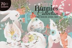 Lovely Bunnies Collection by Principesca on @creativemarket