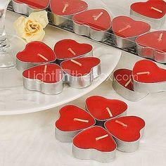 [EUR € 2.47] hartvormige rode theelicht kaarsen (set van 7 boxed)