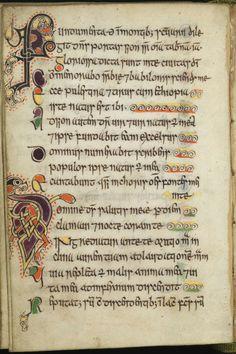Celtic Psalter, 11thc., Edinburgh, University of Edinburgh Library.