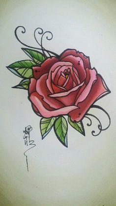 vintage rose tattoo designs - Google zoeken
