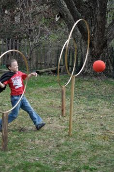 Let your guests burn off all that sugar with a match or two of backyard Quidditch. | 31 Ways To Throw The Ultimate Harry Potter Birthday Party