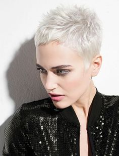 Today we have the most stylish 86 Cute Short Pixie Haircuts. We claim that you have never seen such elegant and eye-catching short hairstyles before. Pixie haircut, of course, offers a lot of options for the hair of the ladies'… Continue Reading → Super Short Hair, Short Grey Hair, Short Hair Cuts For Women, Short Hairstyles For Women, Short Pixie Haircuts, Pixie Hairstyles, Grey Haircuts, Tomboy Hairstyles, Short Haircut