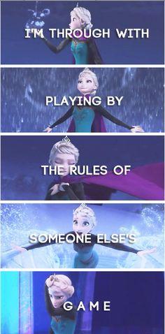Elsa is defying gravity