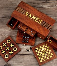 Store Indya Thanksgiving Gifts Holiday Games Collectible 4 in 1 Chess Set Checkers Nine Men's Morris & Tic-Tac-Toe Indoor Board Games x 6 inches Travel Accessory Adults Kids Great Fun Wooden Board Games, Wood Games, Diy Yard Games, Diy Games, Educational Math Games, Mahjong Set, Holiday Games, Small Woodworking Projects, Fun Games For Kids