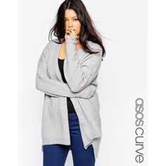 ASOS CURVE Mohair Cardigan ($69) ❤ liked on Polyvore featuring tops, cardigans, light gray, plus size, plus size womens cardigans, plus size lightweight cardigan, mohair cardigan, plus size cardigan and women plus size tops
