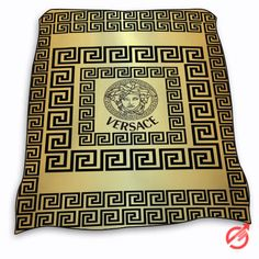 New Versace on greek key Gold surface Blanket cheap and best quality. *100% money back guarantee
