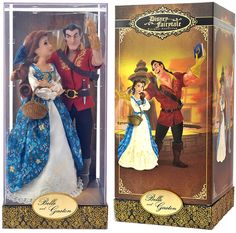 Designer Belle & Gaston ~ Beauty and the Beast Disney Store Limited Edition doll set 9/20/16