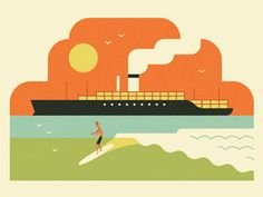 Dribbble - Surf's up! by MUTI