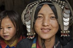 Women from hill tribe in Laos, Asia