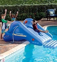 HearthSong Super Backyard Water Slide Water & Pool Toys from HearthSong on Catalog Spree Swimming Pool Games, Kid Pool, Pool Fun, Pool Toys For Kids, Water Slides, Pool Slides, Lounges, Pool Floats For Kids, Piscine Diy