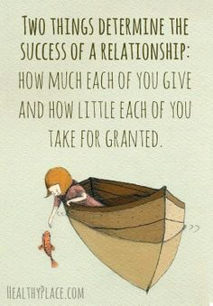 give and take process in a relationship