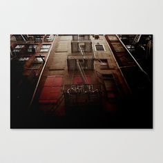 manhattan alley Stretched Canvas by Selma Calapez - $85.00