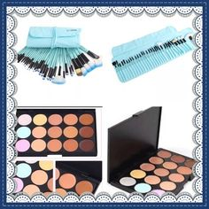 32 Piece Vander Brushes and Contour Palette 32 High Quality Brushes that can be rolled up and wrapped around ties to wrap round your waste for professionals and 15 color contour palette. Vander Makeup Brushes & Tools