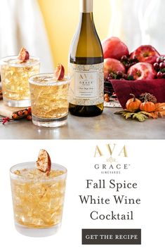 Fall is the perfect time to take a moment to stop, relax and enjoy a drink, which is why we crafted Fall Sangria, Fall Cocktails, Winter Drinks, Wine Cocktails, Holiday Drinks, Cocktail Drinks, Sangria Recipes, Cocktail Recipes, Wine Recipes
