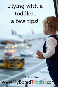 If the thought of flying with a toddler scares you, we've put together a few tips to make the experience much easier! You can also win a great prize from Bubbalove to help with your travels. Flying With A Toddler, Toddler Fun, Toddler Crafts, Toddler Stuff, Kids Crafts, Kid Stuff, Fun Activities For Toddlers, Travel Activities, Educational Activities