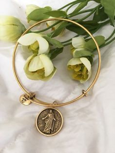 2016 YW Theme - Press Forward - Stackable Bracelet - Gold | Charming LDS Gifts