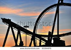 roller coaster silhouette graphics - Google Search