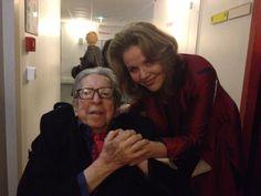Henri Dutilleux et Renée Fleming à la Salle Pleyel en décembre 2012