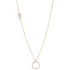 'O'_Ring Charm Necklace  1