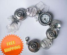 Watch for women Girlfriend gift White metallic by RinasJewels