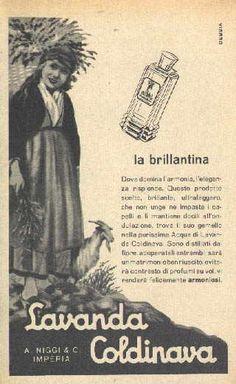 IL VECCHIO: Pubblicità farmaci e profumi, Lavanda Coldinava