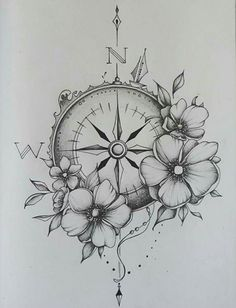 Compass & watches - Kompass & Uhr - Tattoo Designs For Women Sexy Tattoos, Girly Tattoos, Trendy Tattoos, Body Art Tattoos, Small Tattoos, Forarm Tattoos For Women, Cool Tatoos For Women, Cover Up Tattoos For Women, Basic Tattoos