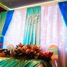 Свадебный вензель нашего производства в праздничном интерьере #нн #нижнийновгород #свадьба #вензель #монограмма #любовь #счастье #wedding