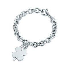 Tiffany & Co Four-Leaf Clover Tag Charm Bracelet...love this