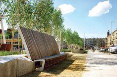 mmcité - products - park benches - landscape