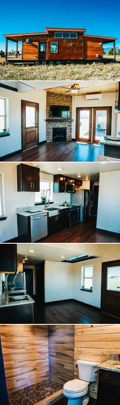With sleeping space for six, the Mount Antero is a great park model tiny house for a family. The house has a main floor bedroom and oversized loft.