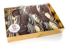 Chocolate covered shortbread gift box www.FruityBouquets.co.uk