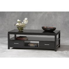 Linon Sutton Black Wood Coffee Table - Overstock™ Shopping - Great Deals on Linon Coffee, Sofa & End Tables