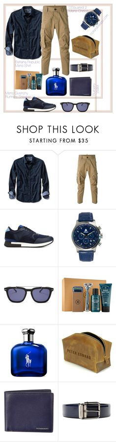 """""""DSquared Mens Chino Trousers"""" by helenaymangual ❤ liked on Polyvore featuring Banana Republic, Dsquared2, Givenchy, Areion, Salvatore Ferragamo, Burberry, Dolce&Gabbana, men's fashion and menswear"""