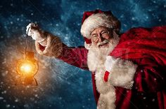 A real authentic Christmas photo of Santa Claus fighting a winter storm to deliver gifts. Real Santa Pictures and This images can be licensed to use at realsantaimages.com | Do Not Use Without A License