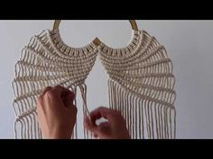 Freebird Fibers provides high-quality macrame and fiber products, workshops and tutorials to help you get your fiber groove on! Freebird Fibers provides high-quality macrame and fiber products, workshops and tutorials to help you get your fiber groove on! Macrame Wall Hanging Patterns, Macrame Plant Hangers, Macrame Patterns, Wings Tutorial, Art Macramé, Macrame Owl, Macrame Design, Macrame Projects, Youtube