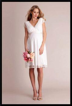 cb10c6cfe22 Modern Brautkleid Standesamt Schwanger Sammlung