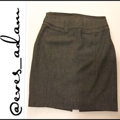 "Express Gray Pencil Skirt w/adjustable waist Great condition Express Grey High Waist Pencil skirt features a gorgeous mini grey tweed like pattern with a side zipper and buckle in back to adjust the waist. Approximately 21"" long. So gorgeous! Express Skirts Pencil"