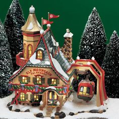 "Department 56 | North Pole Series | ""Elf Mountain Ski Resort"" 
