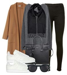 Untitled #11984 by vany-alvarado on Polyvore featuring polyvore, fashion, style, J Brand, adidas Originals, Yves Saint Laurent, Burberry and clothing