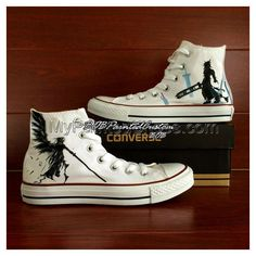 FF White Sneaker Pure Hand Painting Water-resistant on Canvas Sh Painted Canvas Shoes, Hand Painted Shoes, Design Your Own Shoes, Converse, Vans, Unisex Fashion, Akatsuki, Naruto Shippuden, On Shoes