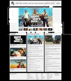 Rockstar Games Rockstar Games, Web Design, Baseball Cards, Design Web, Website Designs, Site Design