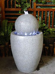 Outdoor Garden Water Feature Apollo Ball Fountain with LED Lights